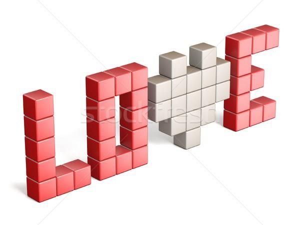 Parola amore 3D rendering 3d illustrazione isolato Foto d'archivio © djmilic