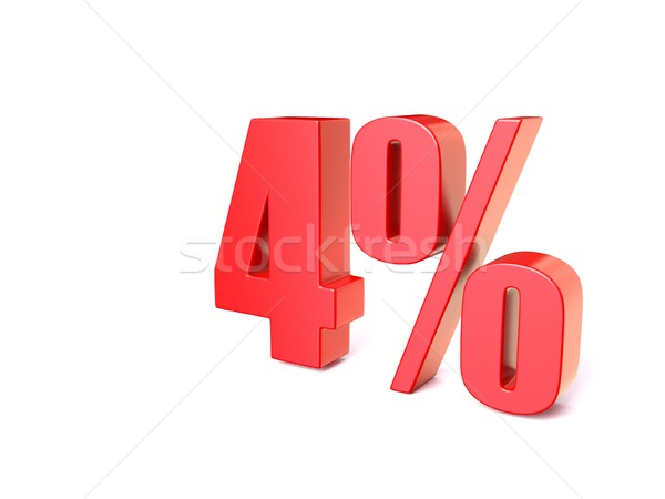 Red percentage sign 4. 3D Stock photo © djmilic