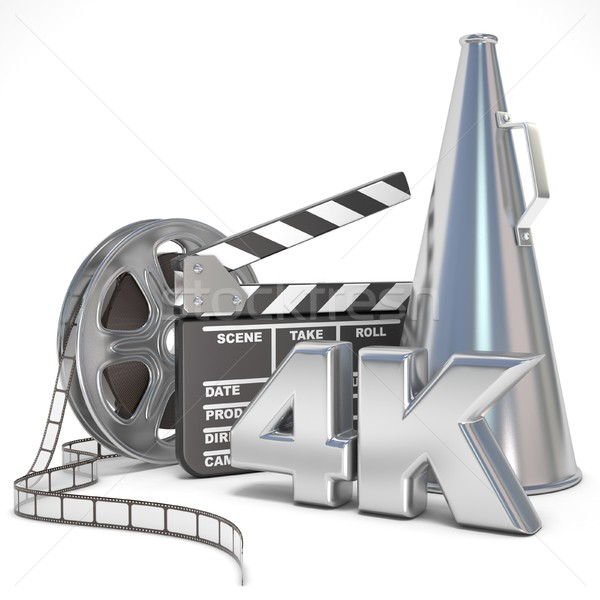 Video, movie, cinema production concept. Reels, clapperboard, me Stock photo © djmilic
