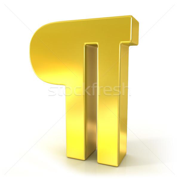 3D altın imzalamak yalıtılmış beyaz uzay Stok fotoğraf © djmilic