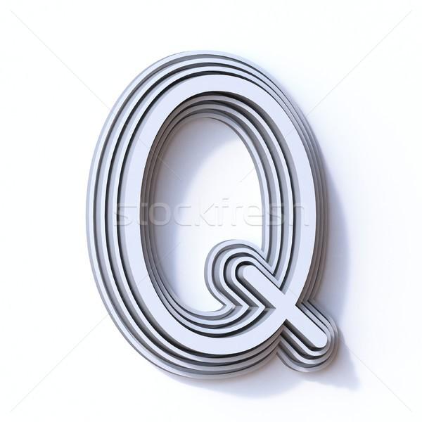 Three steps font letter Q 3D Stock photo © djmilic