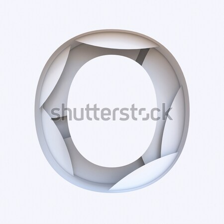 White abstract layers font Letter C 3D Stock photo © djmilic
