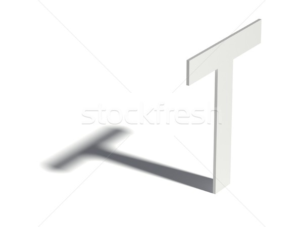 Csepp árnyék betűtípus t betű 3D 3d render Stock fotó © djmilic