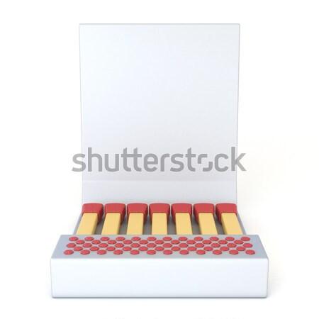 Black cardboard matcbook Front view 3D Stock photo © djmilic