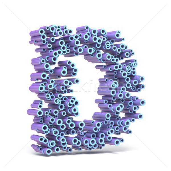 紫色 青 フォント 文字d 3D ストックフォト © djmilic