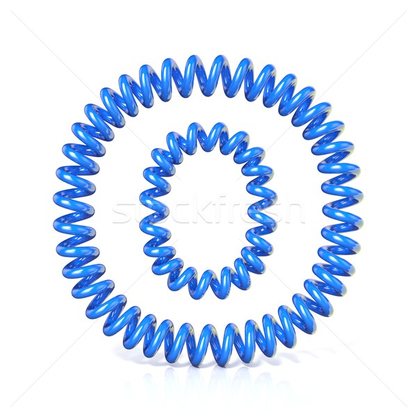 Spring, spiral cable font collection letter - O. 3D Stock photo © djmilic