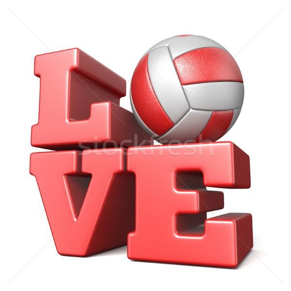 言葉 愛 ボレー ボール 3D 3dのレンダリング ストックフォト © djmilic