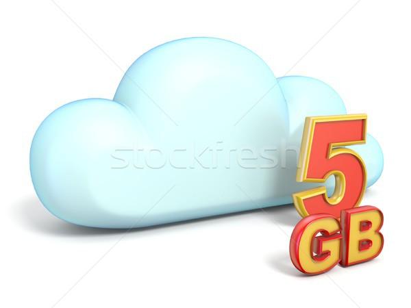 Icône nuage stockage capacité 3D isolé Photo stock © djmilic