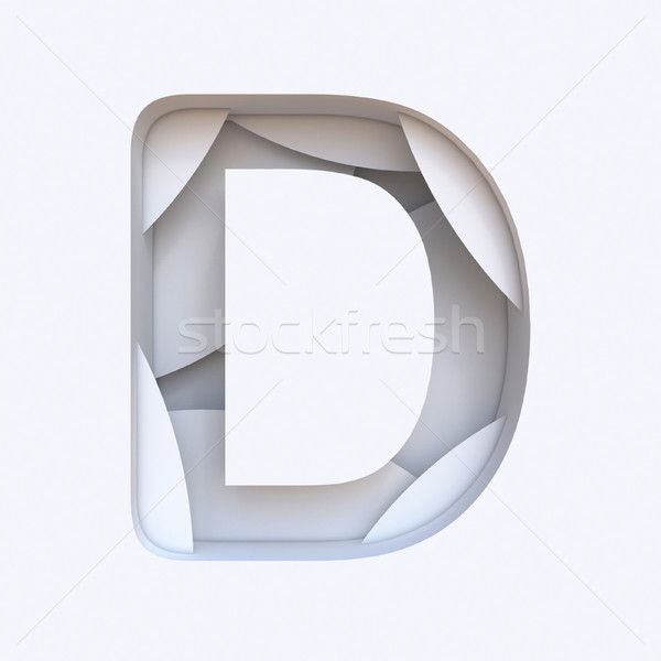 Bianco abstract carattere lettera d 3D Foto d'archivio © djmilic