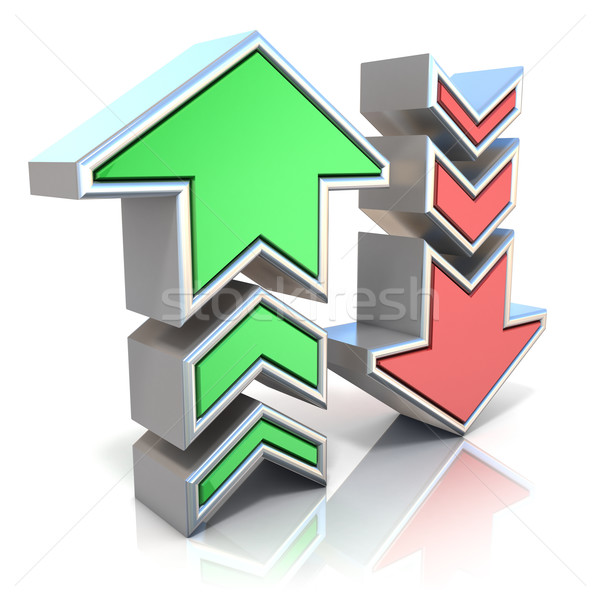 Upload download arrows icon 3D Stock photo © djmilic