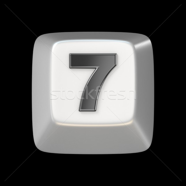 コンピュータのキーボード キー 番号 7 3D 3dのレンダリング ストックフォト © djmilic