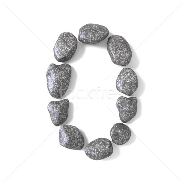Carattere rocce numero pari a zero 3D rendering 3d Foto d'archivio © djmilic