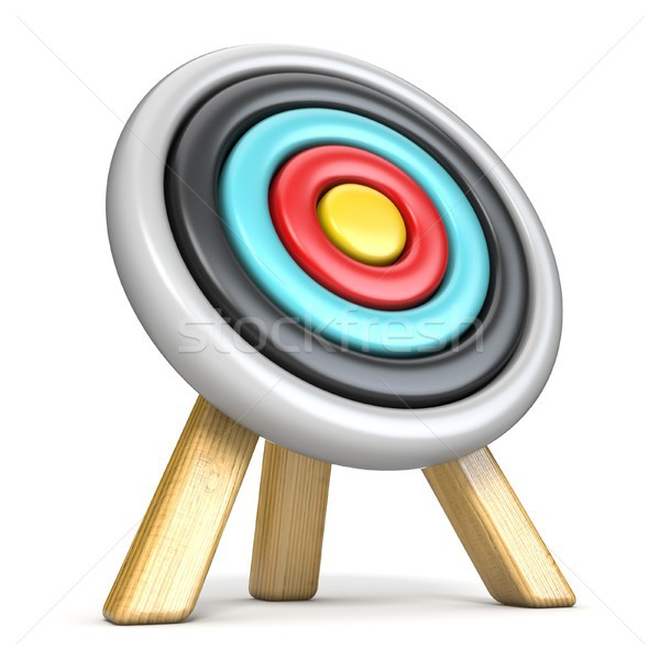 Archery target side view 3D Stock photo © djmilic