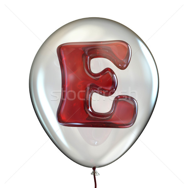 Letter E in transparent balloon 3D Stock photo © djmilic