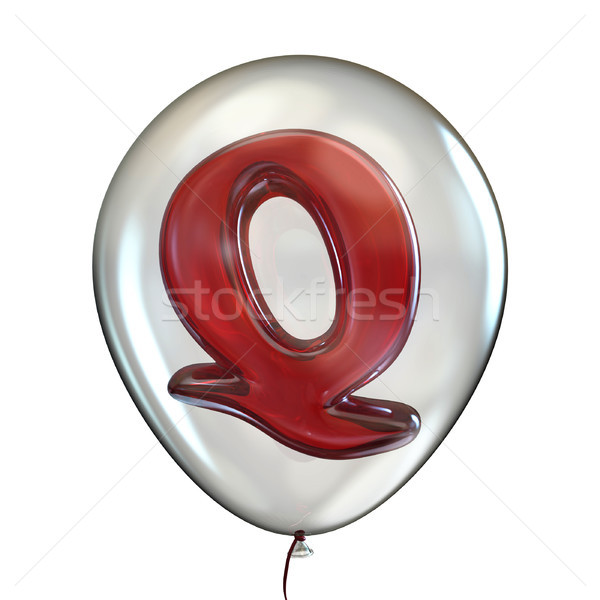 Letter Q in transparent balloon 3D Stock photo © djmilic