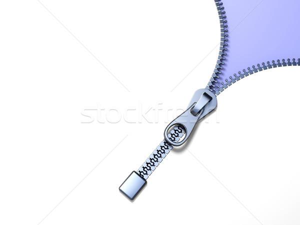 Fém cipzár lila átló kilátás 3D Stock fotó © djmilic