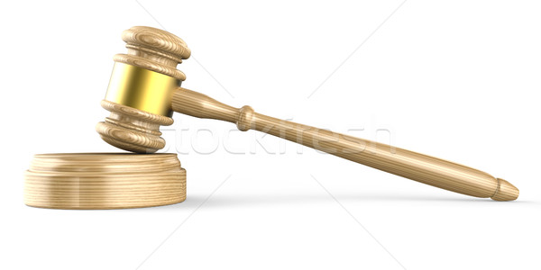 Wooden gavel. Side view. 3D Stock photo © djmilic
