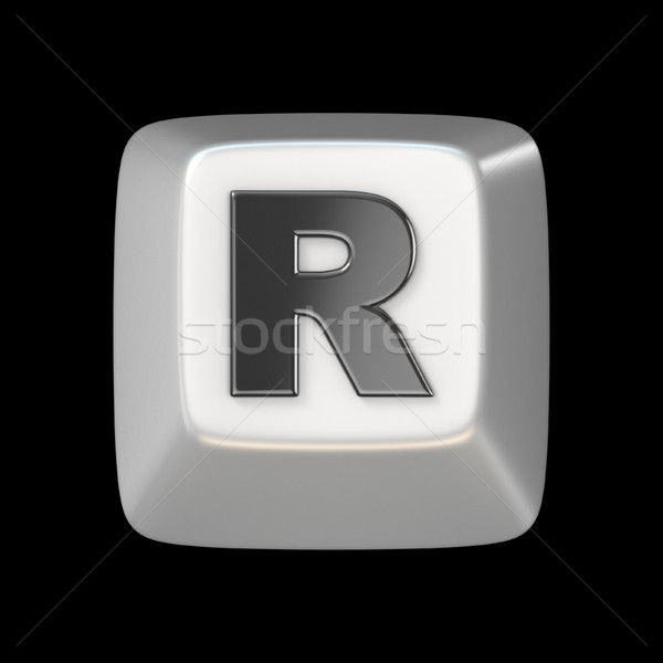 Computer keyboard key FONT. Letter R 3D Stock photo © djmilic