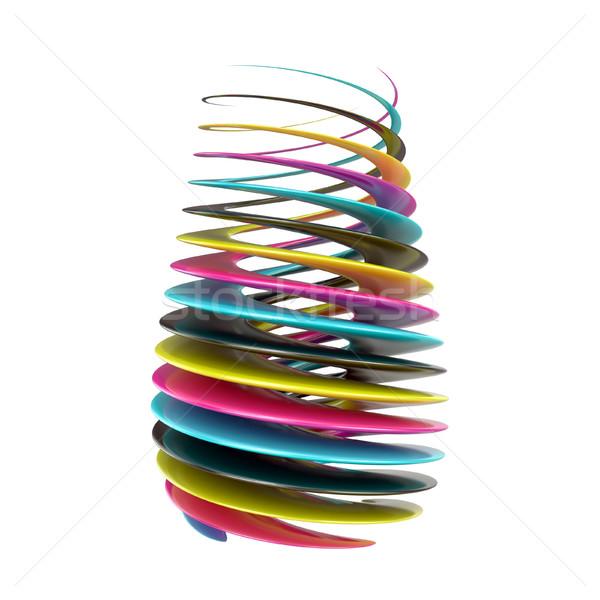CMYK abstract shape. 3D Stock photo © djmilic