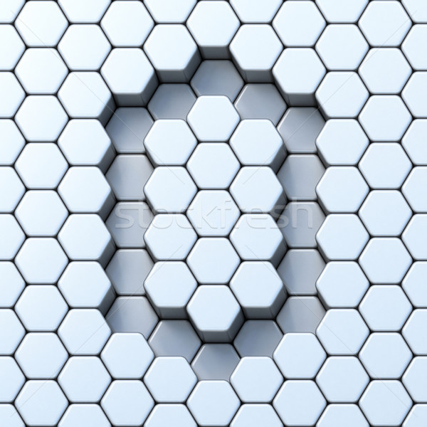 Hexagonal grid letter O 3D Stock photo © djmilic