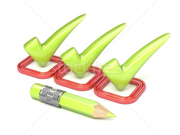три зеленый исправить проверить Красная площадь Сток-фото © djmilic