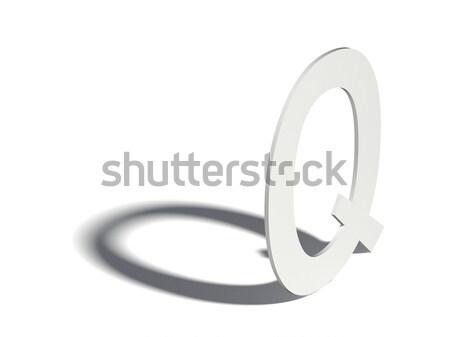 Drop shadow font. Letter O. 3D Stock photo © djmilic