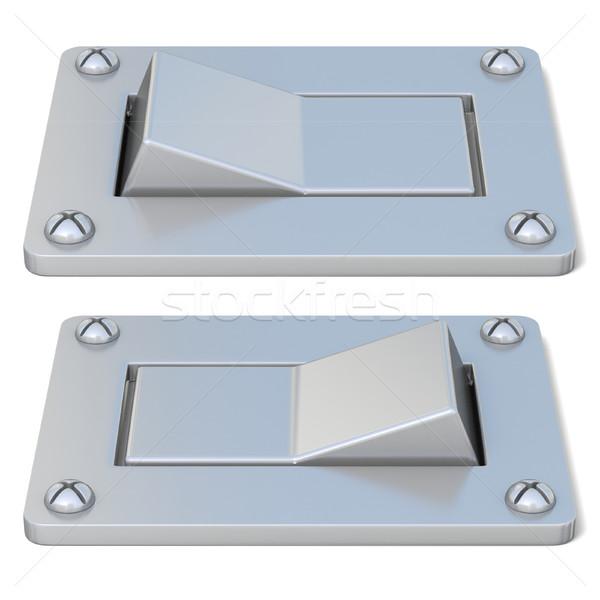 銀 電源 スイッチ ボタン オフ フロント ストックフォト © djmilic