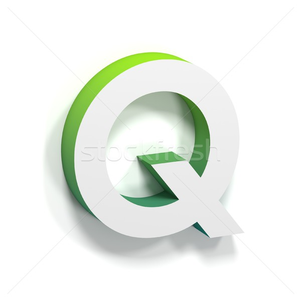 Green gradient and soft shadow letter Q Stock photo © djmilic