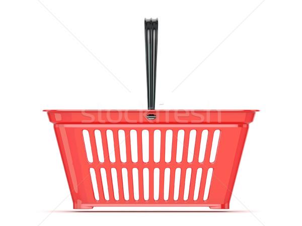 Red shopping basket. 3D Stock photo © djmilic