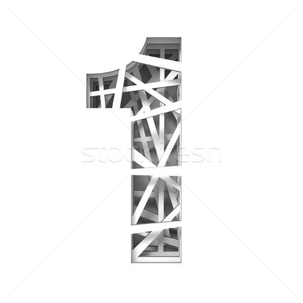 Papír kivágás betűtípus legelső 3D 3d render illusztráció Stock fotó © djmilic