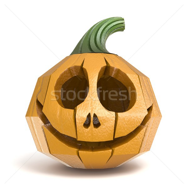 Halloween pumpkin Jack O Lantern polygonal design 3D Stock photo © djmilic