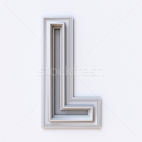 Stock photo: White picture frame font Letter L 3D