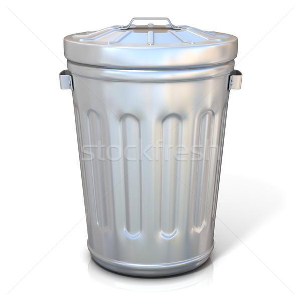 Steel trash can Stock photo © djmilic