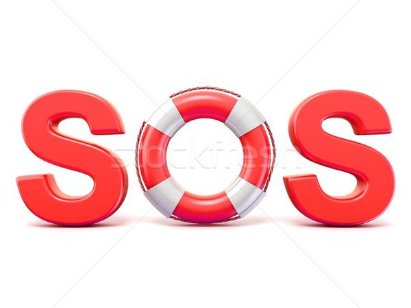 SOS sign, with lifebuoys. 3D Stock photo © djmilic