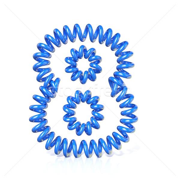 весны спиральных кабеля числа восемь 3D Сток-фото © djmilic