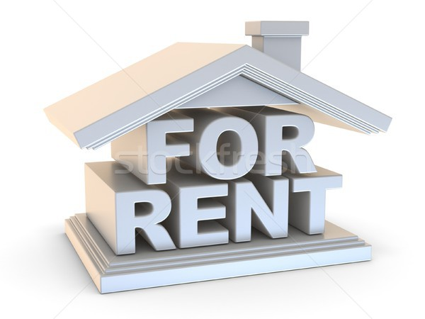FOR RENT house sign side view 3D Stock photo © djmilic