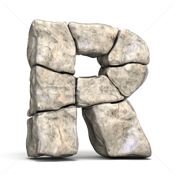 Stone font letter R 3D Stock photo © djmilic