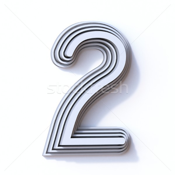 Three steps font number 2 TWO 3D Stock photo © djmilic