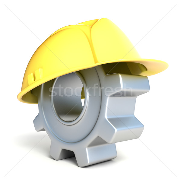 Machine gear with safe helmet. 3D Stock photo © djmilic