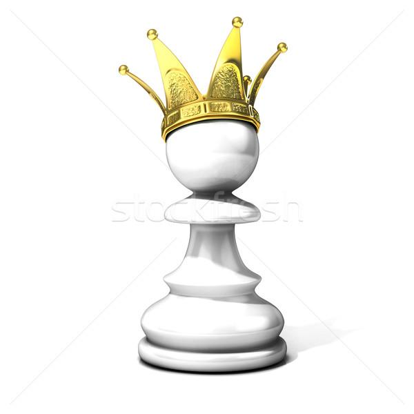 Branco dourado coroa isolado esportes Foto stock © djmilic
