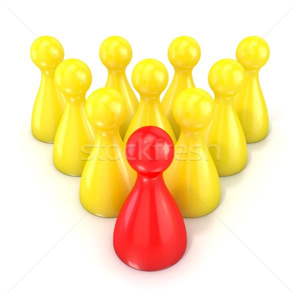 Irányítás egy piros társasjáték darab csoport Stock fotó © djmilic