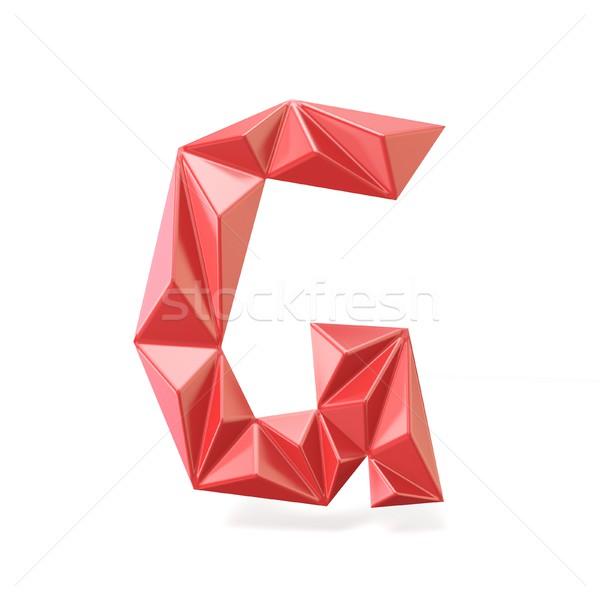 Kırmızı modern mektup g 3D 3d render Stok fotoğraf © djmilic