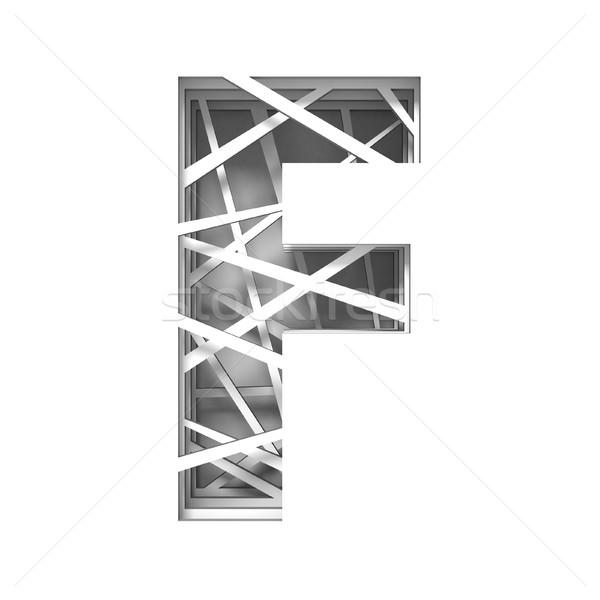 Papír kivágás betűtípus f betű 3D 3d render illusztráció Stock fotó © djmilic