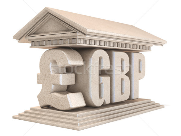 Pound sterling GBP currency sign temple 3D Stock photo © djmilic
