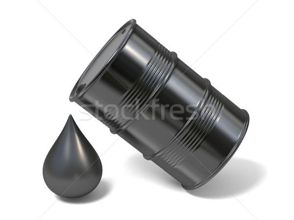 ストックフォト: 黒 · バレル · 巨人 · 油 · ドロップ · アイコン