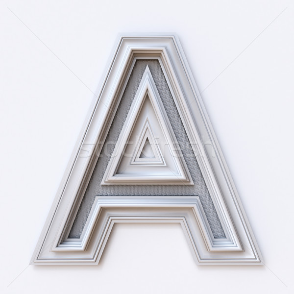 White picture frame font Letter A 3D Stock photo © djmilic