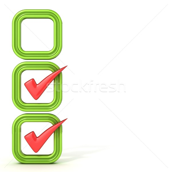 Check boxes with correct check mark Stock photo © djmilic