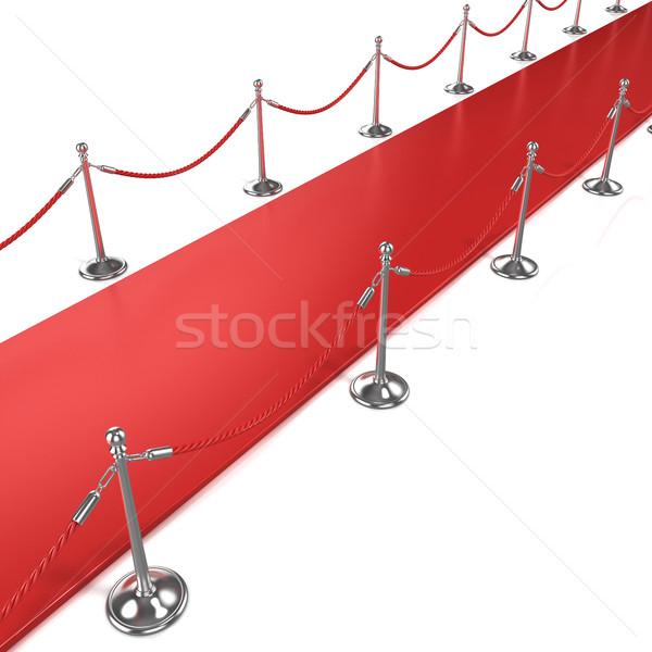 красный ковер диагональ вид сбоку фильма театра успех Сток-фото © djmilic
