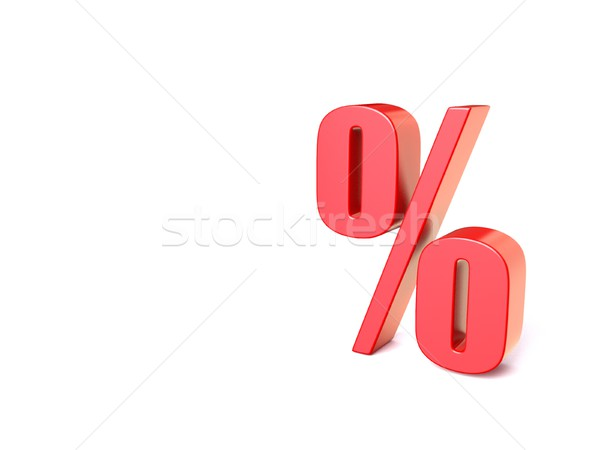 Red percentage sign. 3D Stock photo © djmilic