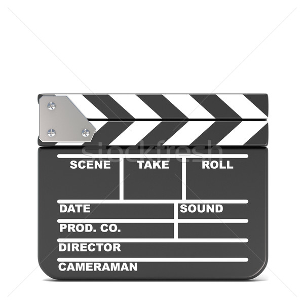Movie clapperboard, closed. 3D Stock photo © djmilic
